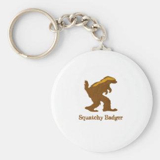 Squatchy Badger Keychain
