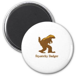 Squatchy Badger Fridge Magnets