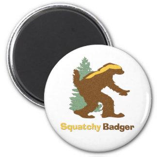 Squatchy Badger Fridge Magnet