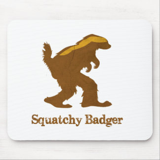 Squatchy Badger Mouse Pad