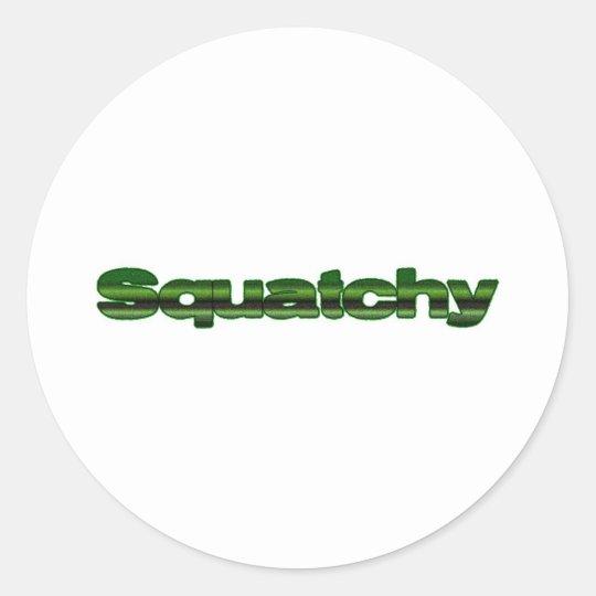 squatchy classic round sticker
