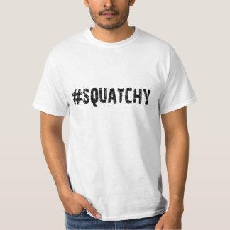#SQUATCHY - Funny Keep it Squatchy Bigfoot Logo T Shirt