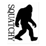 SQUATCHY SILHOUETTE Shirt - Special *BFRO* Edition Postcard