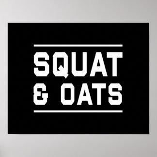 Squats & Oats Poster