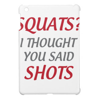 Squats or Shots iPad Mini Cases