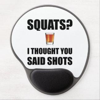 Squats Shots Gel Mouse Pad