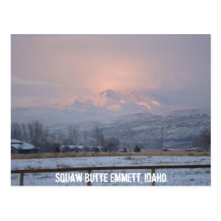 Squaw Butte located above Emmett Idaho Postcard