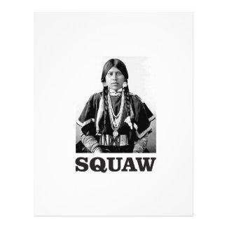 squaw indian woman letterhead