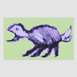 Squawking Alien Animal Rectangular Sticker