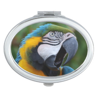 Squawking Parrot Compact Mirror