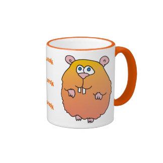 Squeak Funny Hamster Mug, Ringer Mug
