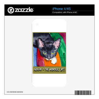 Squeak - The Wonder Cat! Decal For iPhone 4