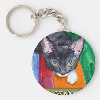 Squeak - The Wonder Cat! Keychain