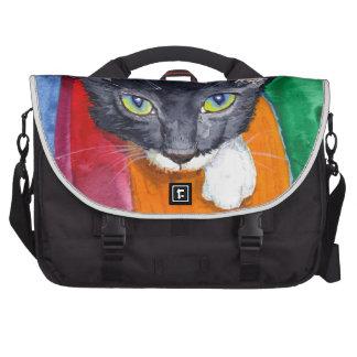 Squeak - The Wonder Cat! Laptop Messenger Bag