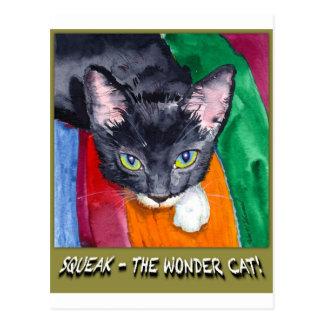 Squeak - The Wonder Cat! Postcard