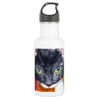 Squeak - The Wonder Cat! Stainless Steel Water Bottle
