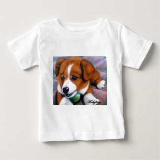 Squeaker A cute little puppy with his favorite toy Baby T-Shirt