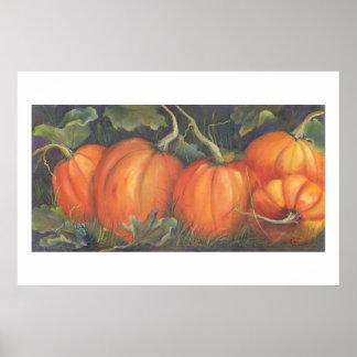 Squeaker s Pumpkins Print