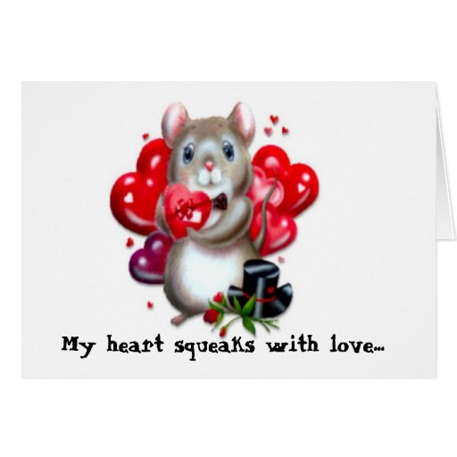 Squeaking with love card
