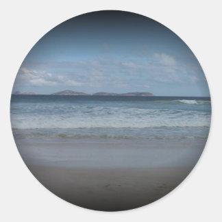 Squeaky Beach1 Classic Round Sticker