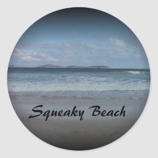 Squeaky Beach 1 Classic Round Sticker