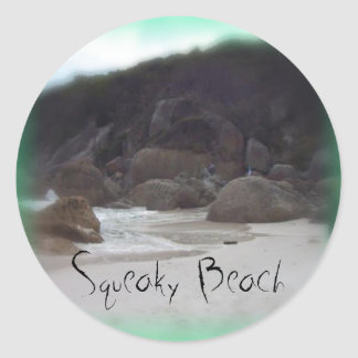 Squeaky Beach 3 Classic Round Sticker