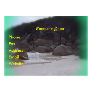 Squeaky Beach 3 Large Business Card