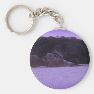 Squeaky Beach 4 Basic Round Button Keychain