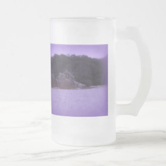 Squeaky Beach 4 Frosted Glass Beer Mug