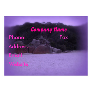 Squeaky Beach 4 Large Business Card