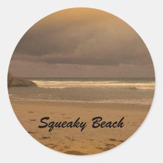 Squeaky Beach 5 Classic Round Sticker
