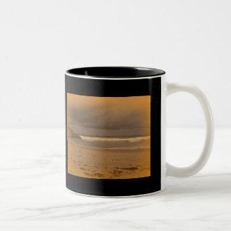 Squeaky Beach 5 Two-Tone Coffee Mug