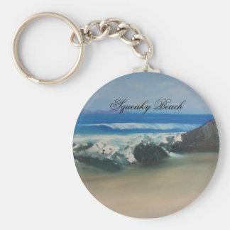 Squeaky Beach Basic Round Button Keychain