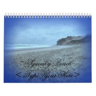 Squeaky Beach Wall Calendar