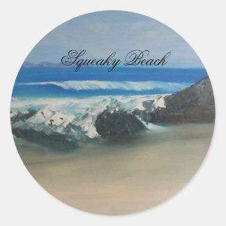 Squeaky Beach Classic Round Sticker