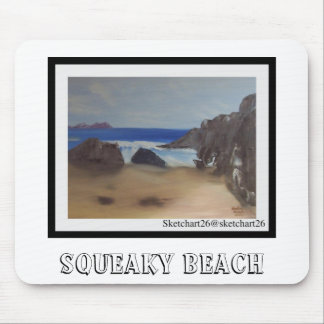 Squeaky Beach Mouse Pad