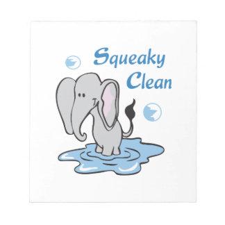 Squeaky Clean Memo Notepads