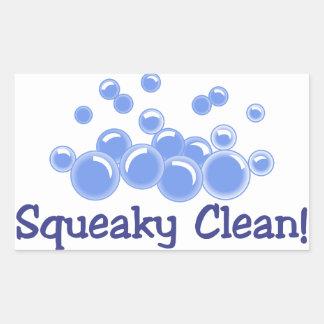 Squeaky Clean Rectangular Sticker