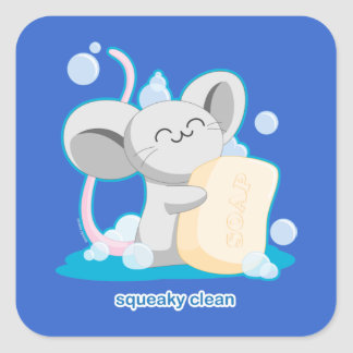 Squeaky Clean Square Sticker