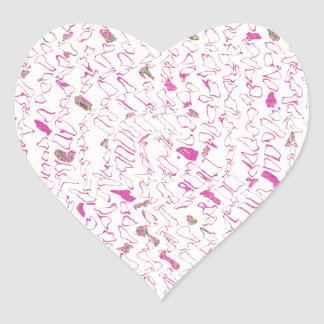 Squeaky Squiggles Heart Sticker