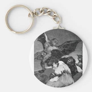 Squealers? by Francisco Goya Basic Round Button Keychain