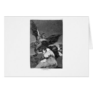 Squealers? by Francisco Goya Card