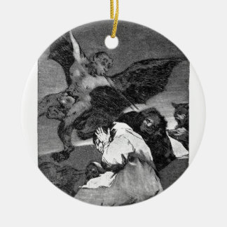 Squealers? by Francisco Goya Double-Sided Ceramic Round Christmas Ornament
