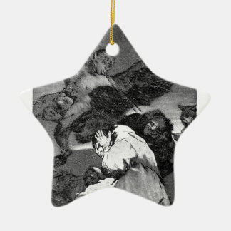 Squealers? by Francisco Goya Double-Sided Star Ceramic Christmas Ornament