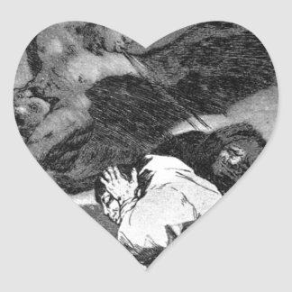 Squealers? by Francisco Goya Heart Sticker