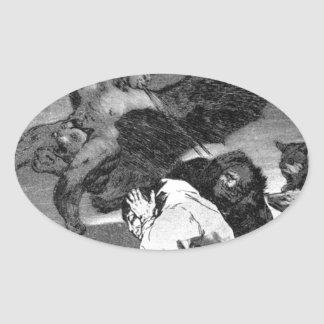 Squealers? by Francisco Goya Oval Sticker