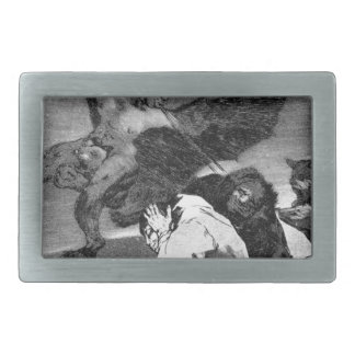 Squealers? by Francisco Goya Rectangular Belt Buckle