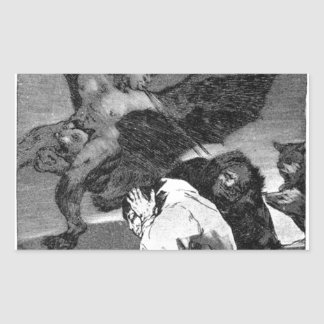 Squealers? by Francisco Goya Rectangular Sticker
