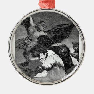 Squealers? by Francisco Goya Round Metal Christmas Ornament