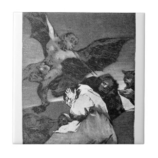 Squealers? by Francisco Goya Small Square Tile